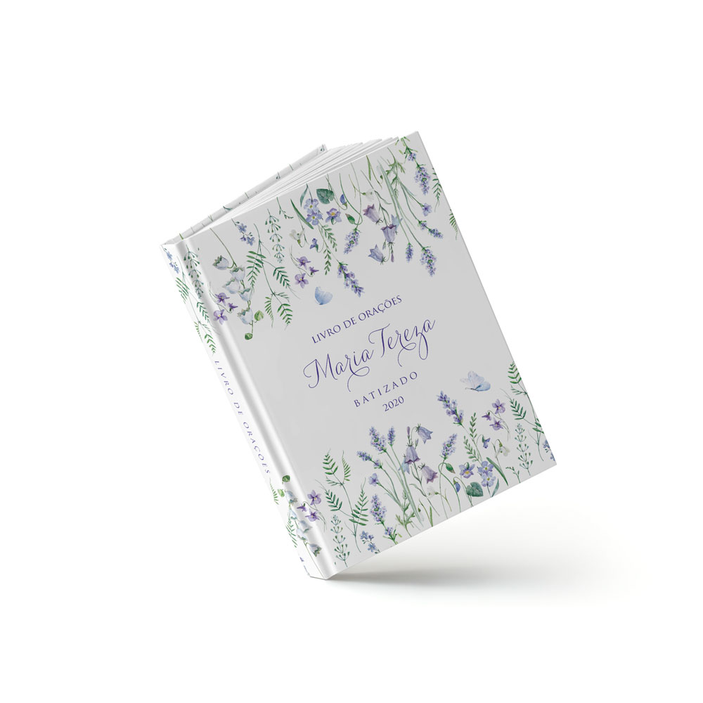 Livro Batizado - Lavanda - Sweetcards