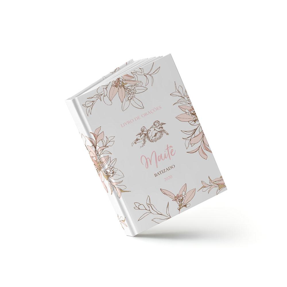 Livro Batizado - Royal Rosa - Sweetcards