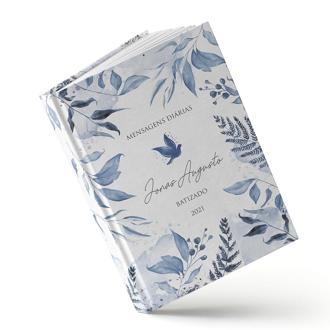 Batizados - Folhagem Azul - Sweetcards