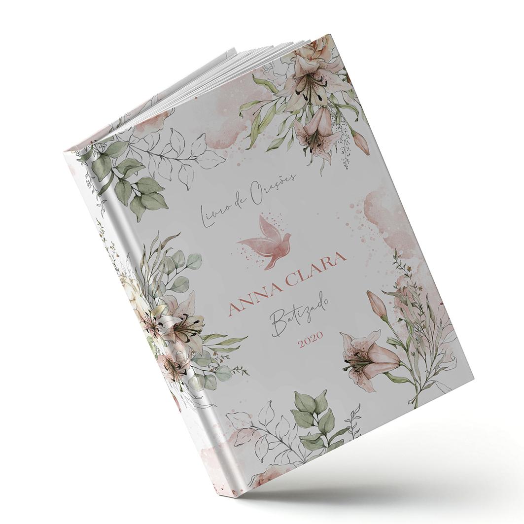 Livro Batizado - Lirio Rosa - Sweetcards